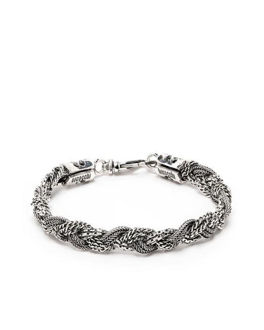 Bracelet à design tressé Emanuele Bicocchi en coloris Metallic