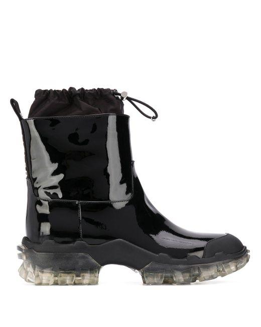 Moncler Black Stiefel mit Kordelzug