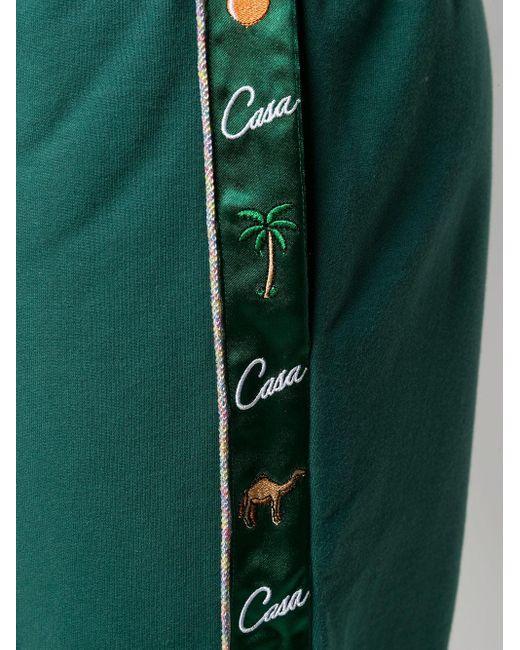 メンズ CASABLANCA ドローストリング トラックパンツ Green