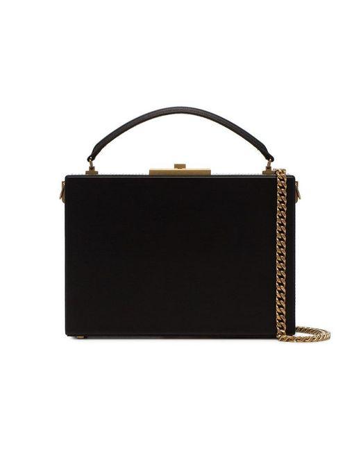 b9c7a7d5d12c Saint Laurent Black Nan Leather Box Bag in Black - Lyst