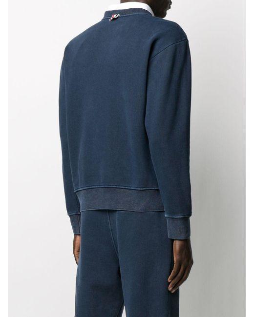 Свитер С Эффектом Выцветания Thom Browne для него, цвет: Blue