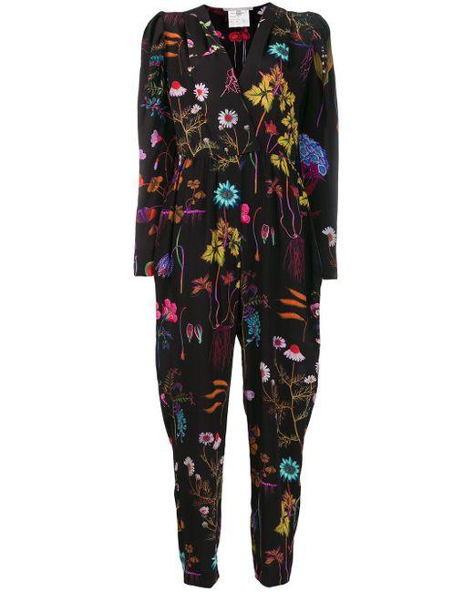 Stella McCartney フローラル ジャンプスーツ Black