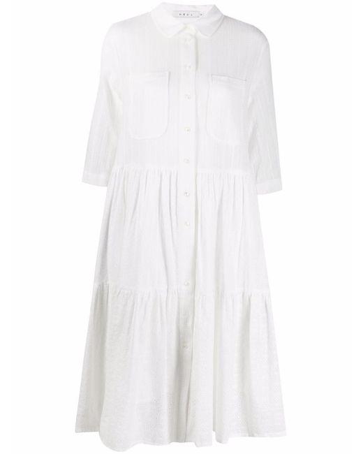 NEUL ストライプ シャツドレス White