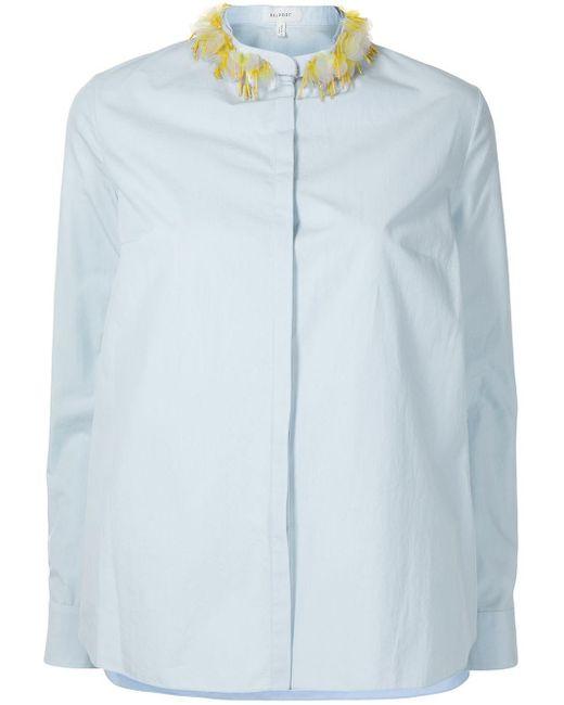 Delpozo マンダリンカラー シャツ Blue