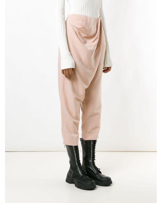 UMA | Raquel Davidowicz Male ドレープ パンツ Pink