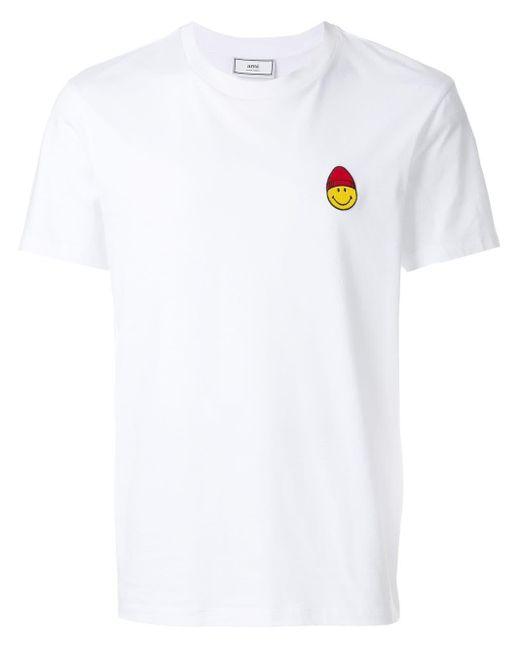 メンズ AMI Smiley パッチ Tシャツ White