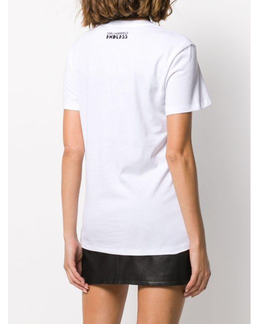 Футболка Из Коллаборации С Endless Karl Lagerfeld, цвет: White
