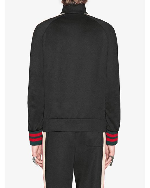メンズ Gucci テクニカルジャージー ジャケット Black