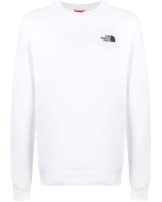 メンズ The North Face Redbox ラグランスリーブ スウェットシャツ White