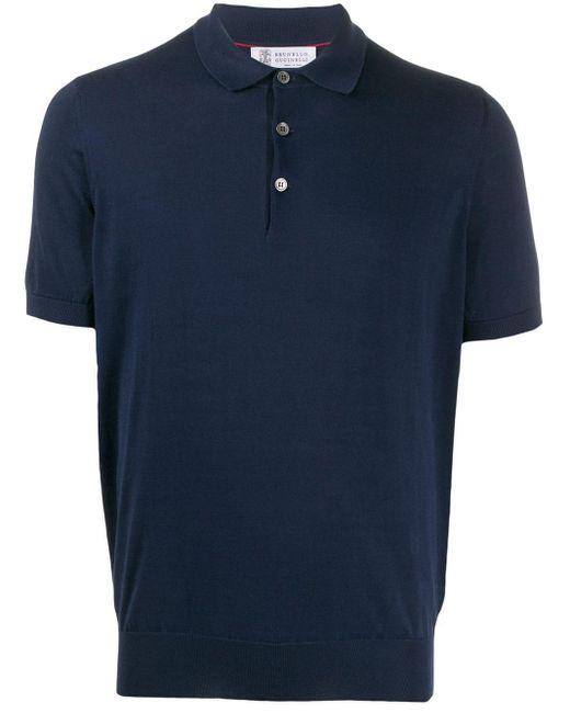 メンズ Brunello Cucinelli ポロシャツ Blue