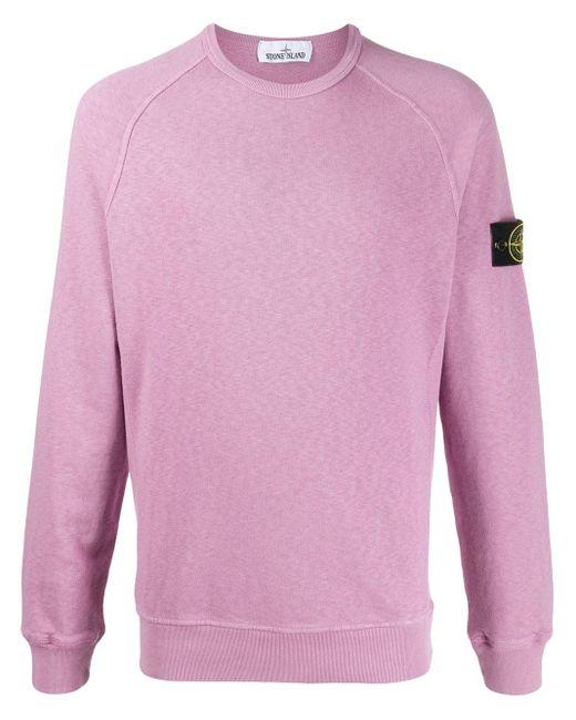 メンズ Stone Island クルーネック スウェットシャツ Pink
