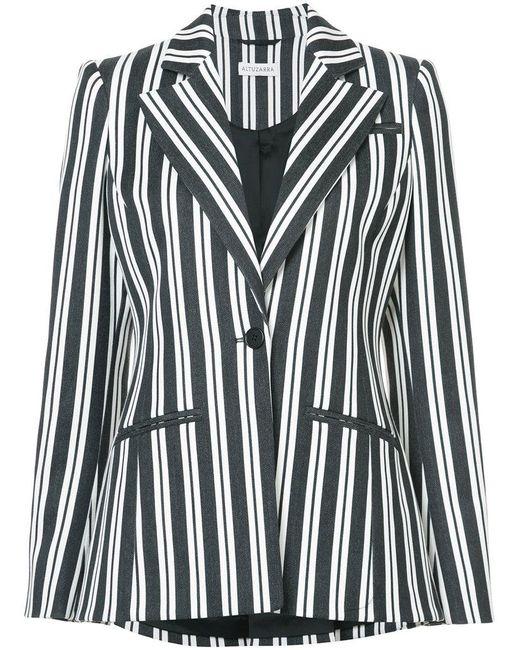 Altuzarra - Black Belted Striped Blazer - Lyst