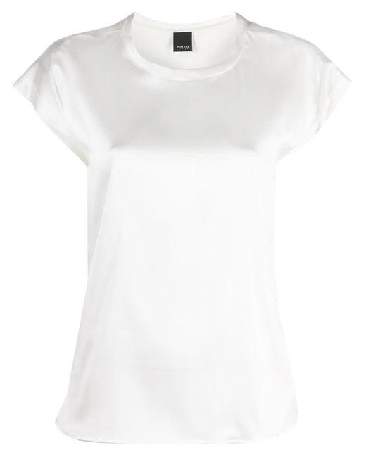 Camiseta con cuello redondo Pinko de color White