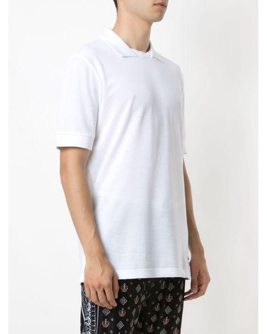 メンズ Dolce & Gabbana レイヤード ポロシャツ White