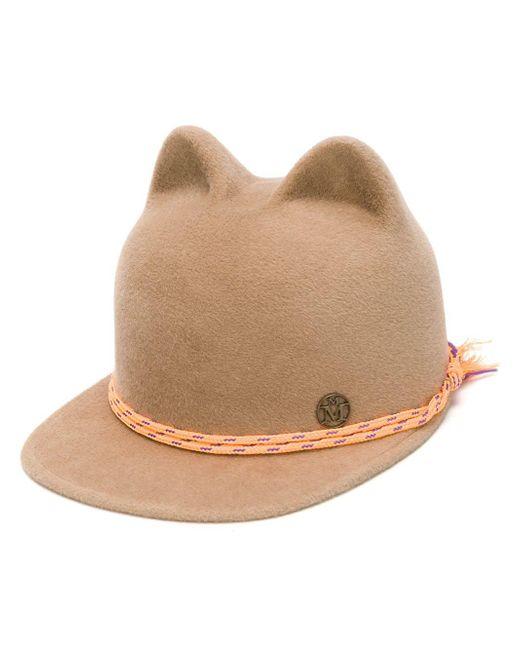 Maison Michel Animal Ear Cap in het Brown