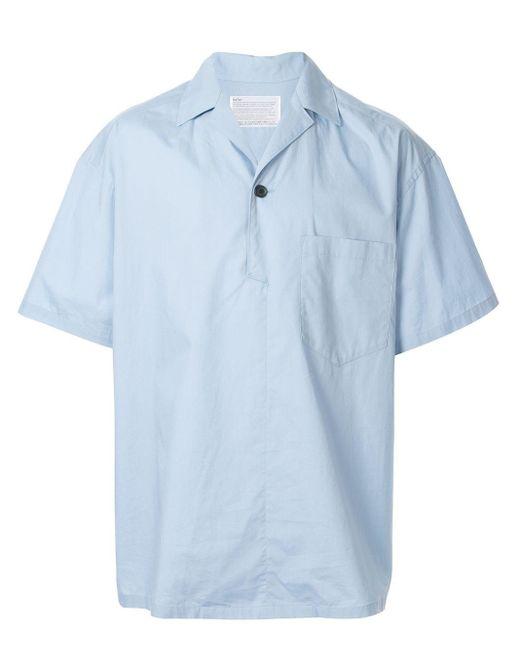 メンズ Kolor リラックスフィット シャツ Blue