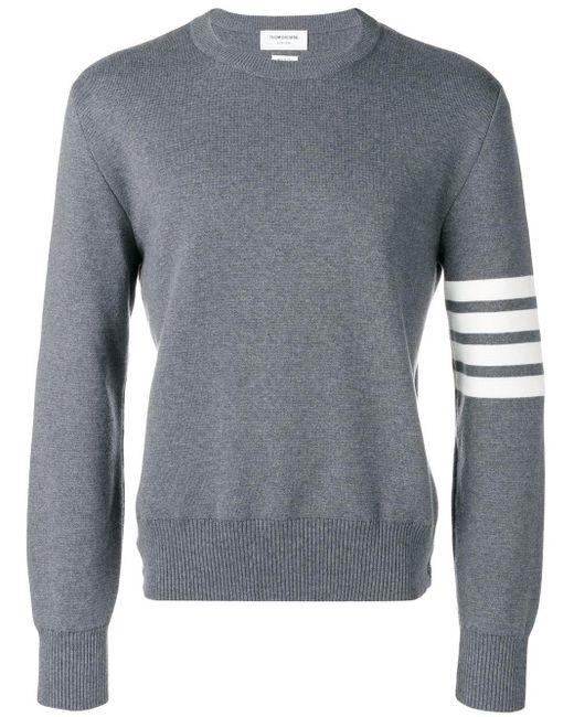 Пуловер С Полосками Thom Browne для него, цвет: Gray