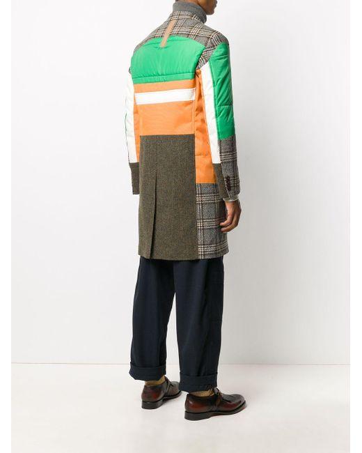 メンズ Junya Watanabe パネル シングルコート Multicolor