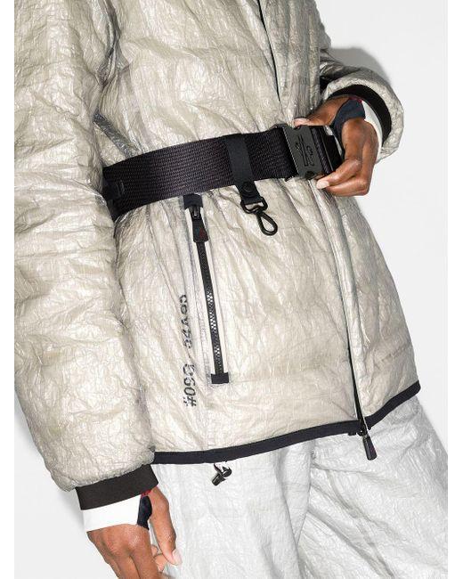 3 MONCLER GRENOBLE フーデッド パデッドジャケット Gray