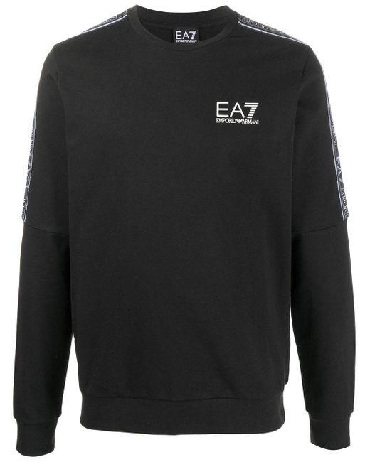 メンズ EA7 ロゴ スウェットシャツ Black