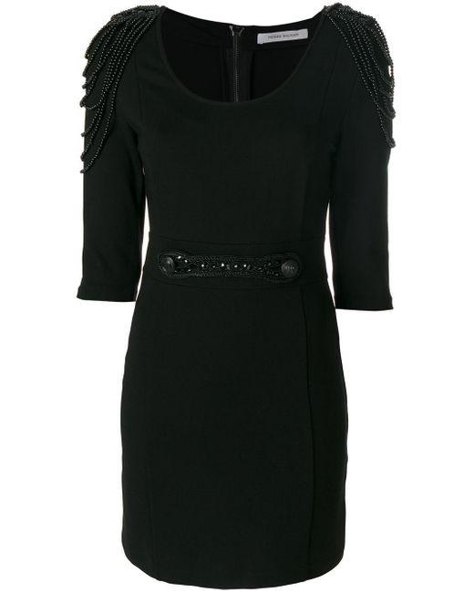 Balmain ビーズディテール ドレス Black
