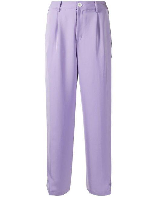 Coohem ストライプ パンツ Purple