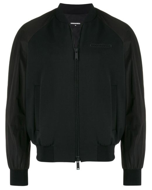 メンズ DSquared² ロゴ ボンバージャケット Black