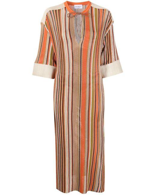 Ferragamo ストライプ ニットドレス Multicolor