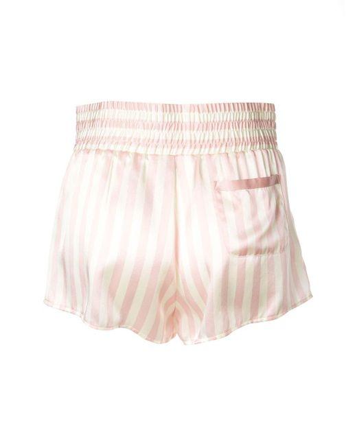 Morgan Lane Corey シルク パジャマ パンツ Pink