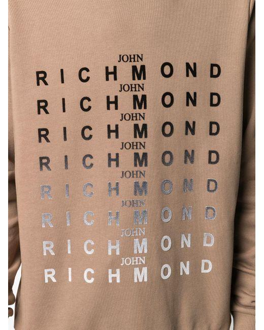 メンズ John Richmond ロゴ スウェットシャツ Brown