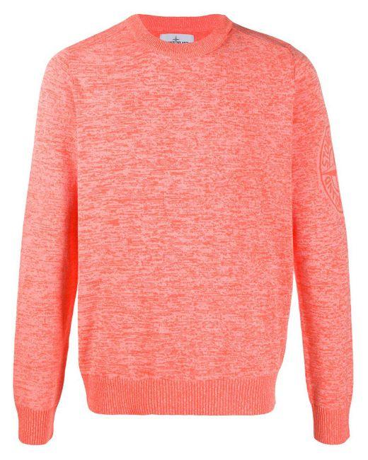 メンズ Stone Island ロゴ セーター Orange