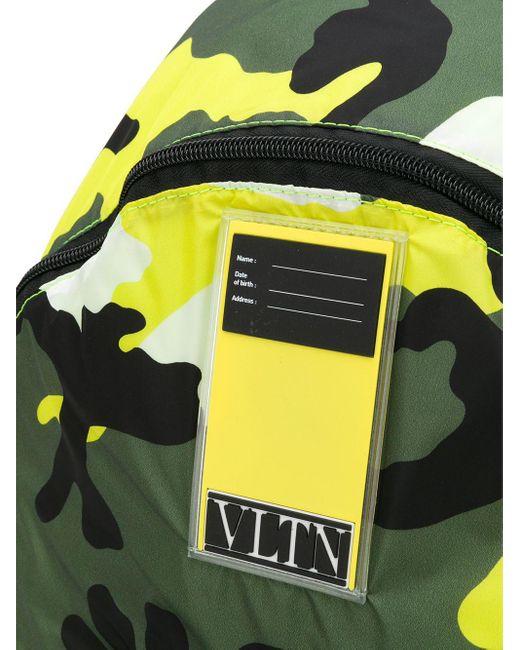 メンズ Valentino Garavani Vltn My Tag カモフラージュ バックパック Green