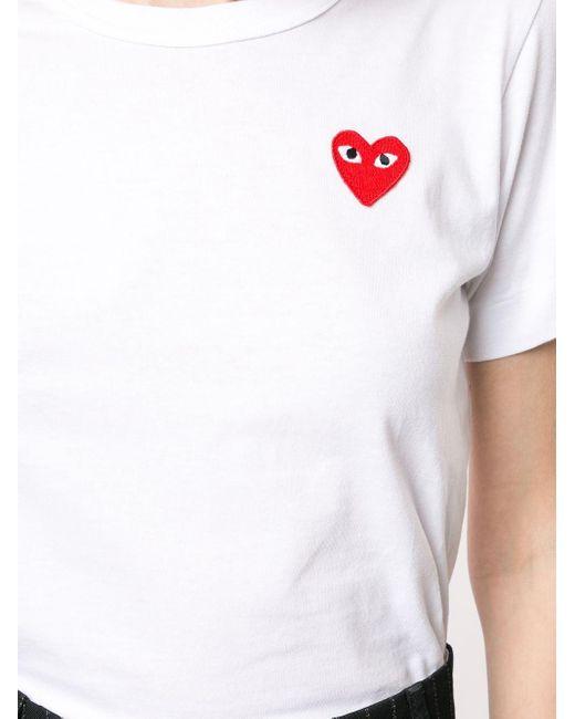 COMME DES GARÇONS PLAY ロゴパッチ Tシャツ White