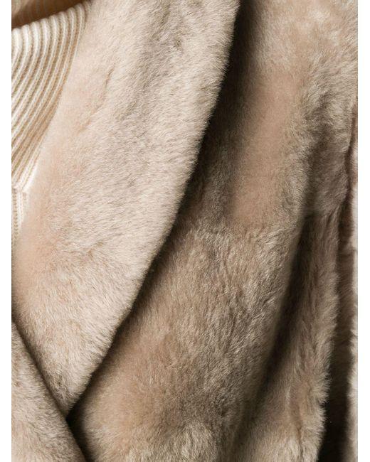 Пальто С Поясом Brunello Cucinelli, цвет: Natural