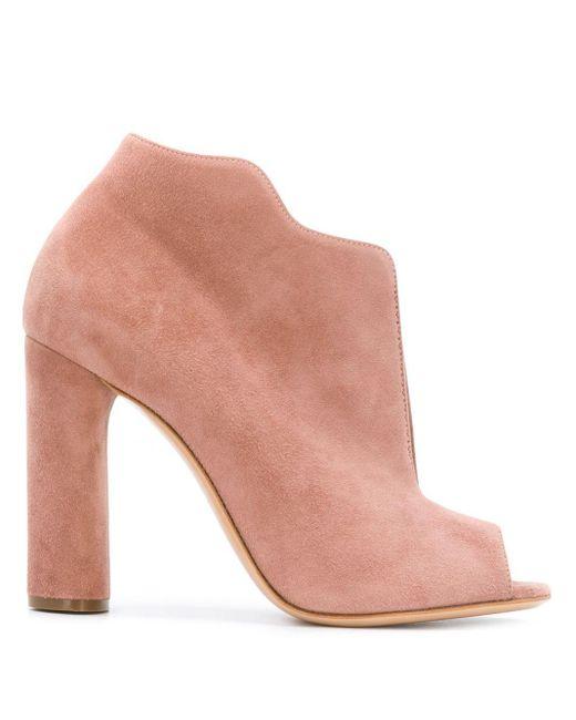 Casadei ウェーブトリム ブーツ Pink