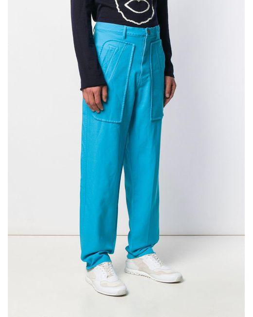 メンズ Comme des Garçons ワイド カーゴパンツ Blue