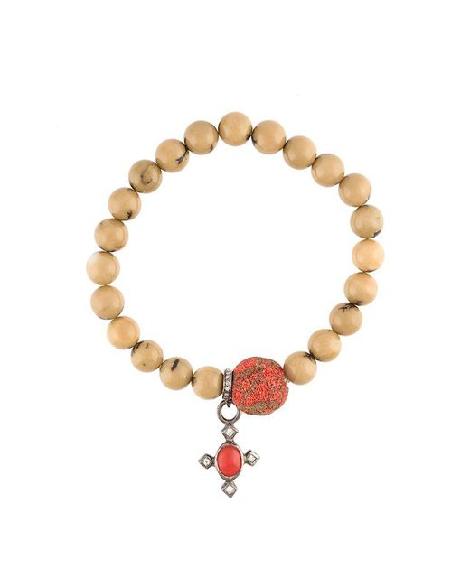 Loree Rodkin | Multicolor Beaded Diamond Charm Bracelet | Lyst