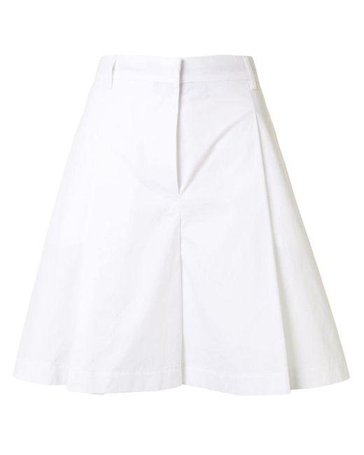 Maison Kitsuné Aライン プリーツスカート White