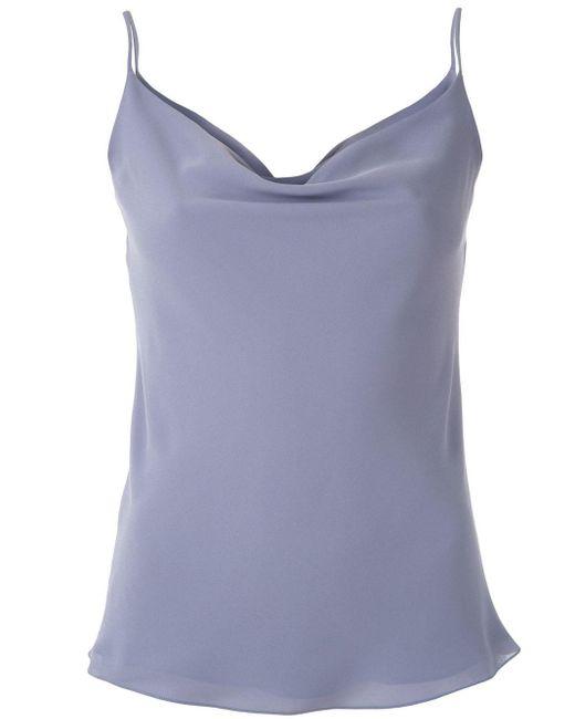 Egrey Camisola con cuello desbocado de mujer de color azul OKnsw