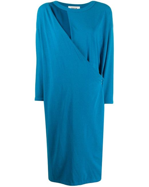 Zucca ドレープドレス Blue