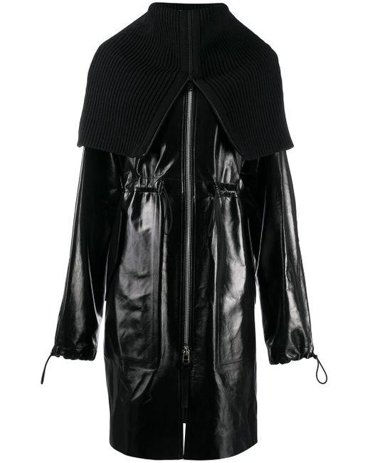 Пальто С Воротником-воронкой Bottega Veneta, цвет: Black