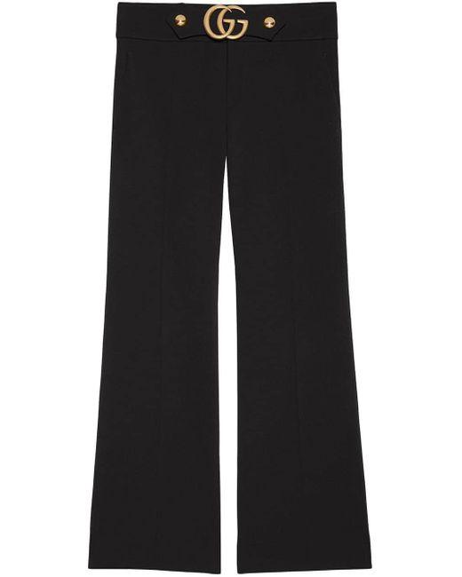 Gucci ストレッチヴィスコースジャージー ブーツカットパンツ Black