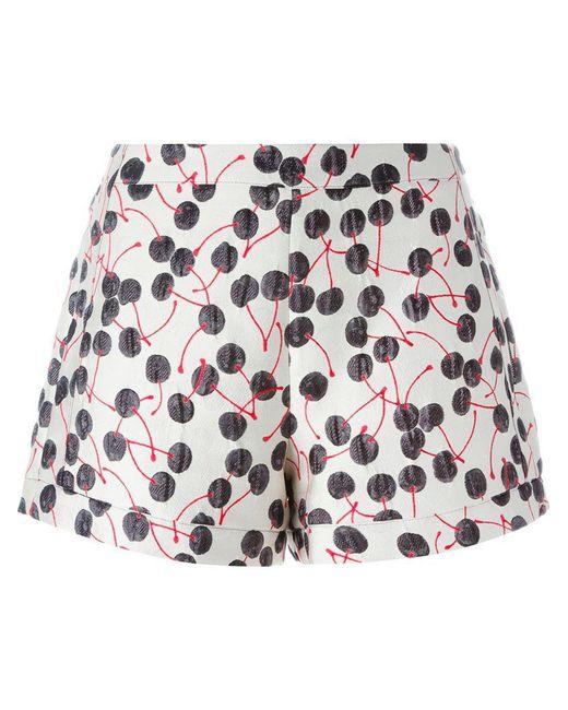 Giamba - Black Cherry Brocade Shorts - Lyst