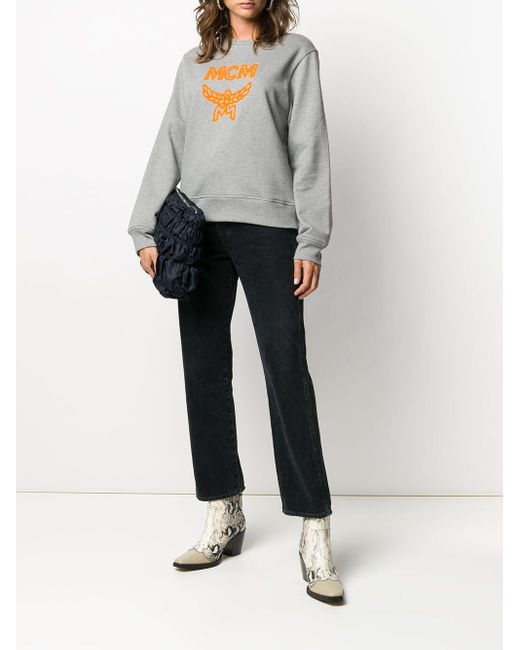 MCM ロゴ スウェットシャツ Gray