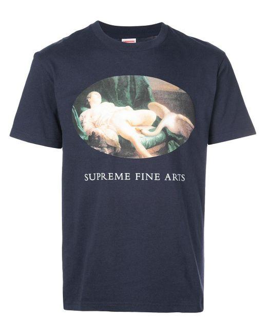 メンズ Supreme Leda And The Swan Tシャツ Blue