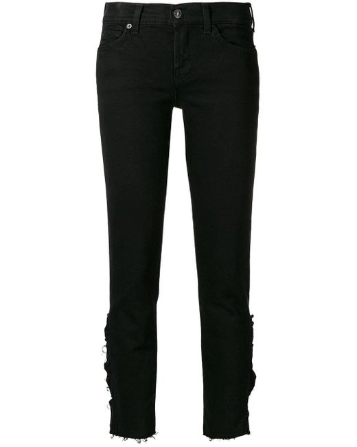 7 For All Mankind ダメージ ジーンズ Black