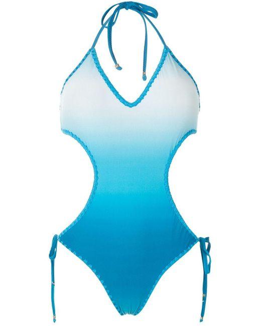 Bañador con motivo tie-dye Amir Slama de color Blue