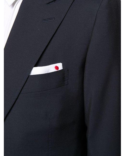 メンズ Kiton テーラード シングルスーツ Blue