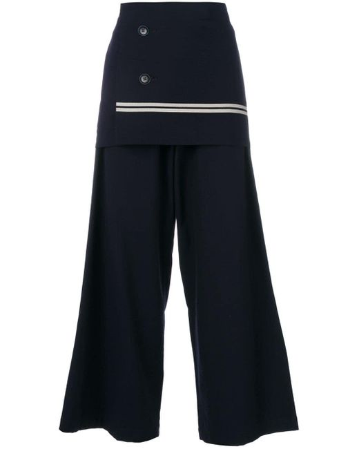 Y's Yohji Yamamoto ラップディテール パンツ Blue