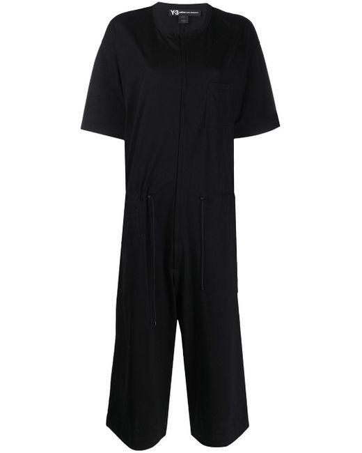 Y-3 クロップド ジャンプスーツ Black